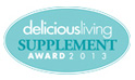 Delicious Living Supplement Award 2013